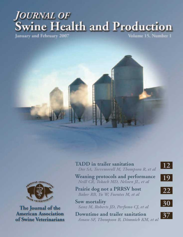 journal of swine health and production author guidelines