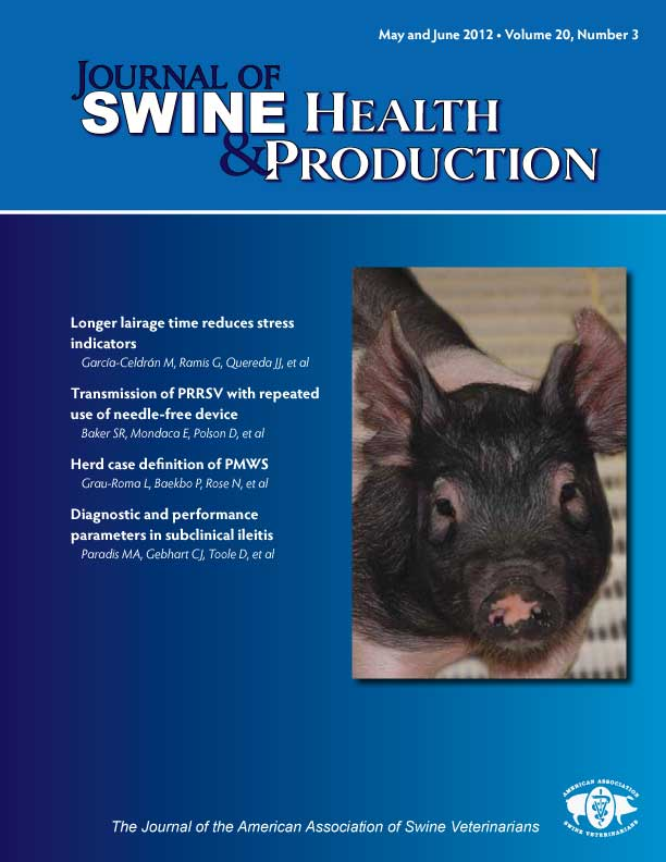swine health and production Impact factor of journal of swine health and production, 1537-209x, journal impact factor report.